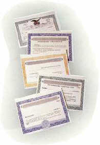 We offer certificates for every corporate need.